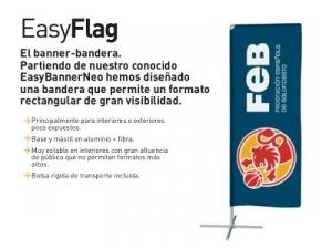 Bandera económica rectangular interiores plegable