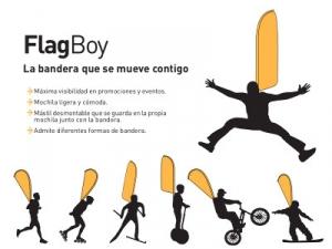 Flag boy, bandera espalda personal para eventos