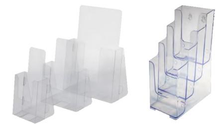 Portafolletos y soportes en PVC