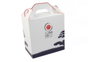vista de caja lunch box impresa