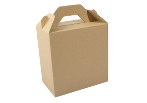 vista de caja lunch box kraft