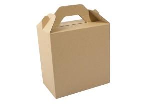 vista de caja lunch box kraft