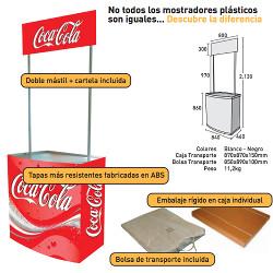 Mostrador plástico con cartela