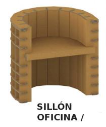 Mobiliario cartón reciclado