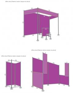 Sistema de montaje para espacios efimeros, stands y ferias