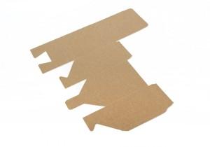 vista de caja producto baja en plano abierta