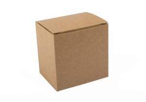 vista de caja productos baja en kraft